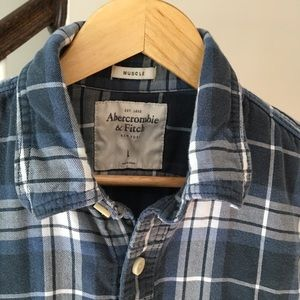 Abercrombie & Fitch Shirts - Abercrombie & Fitch Men's Muscle Flannel Large